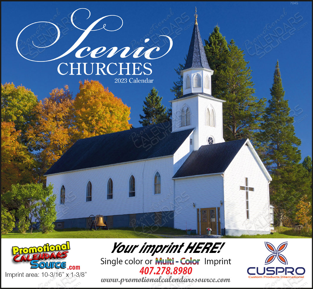 Scenic Churches Promotional Calendar, Stapled