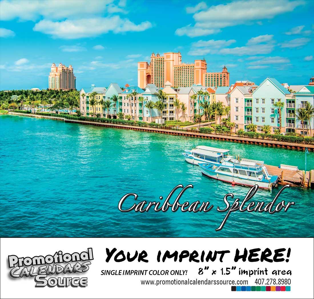 Caribbean Splendor Calendar - Scenic Images of the Caribbean - Spanish/English Bilingual