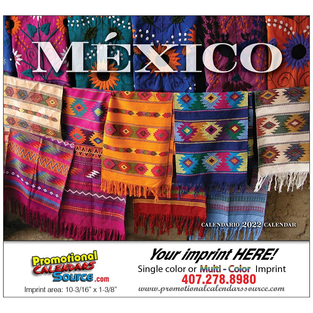 Mexico Promotional Wall Calendar  Stapled