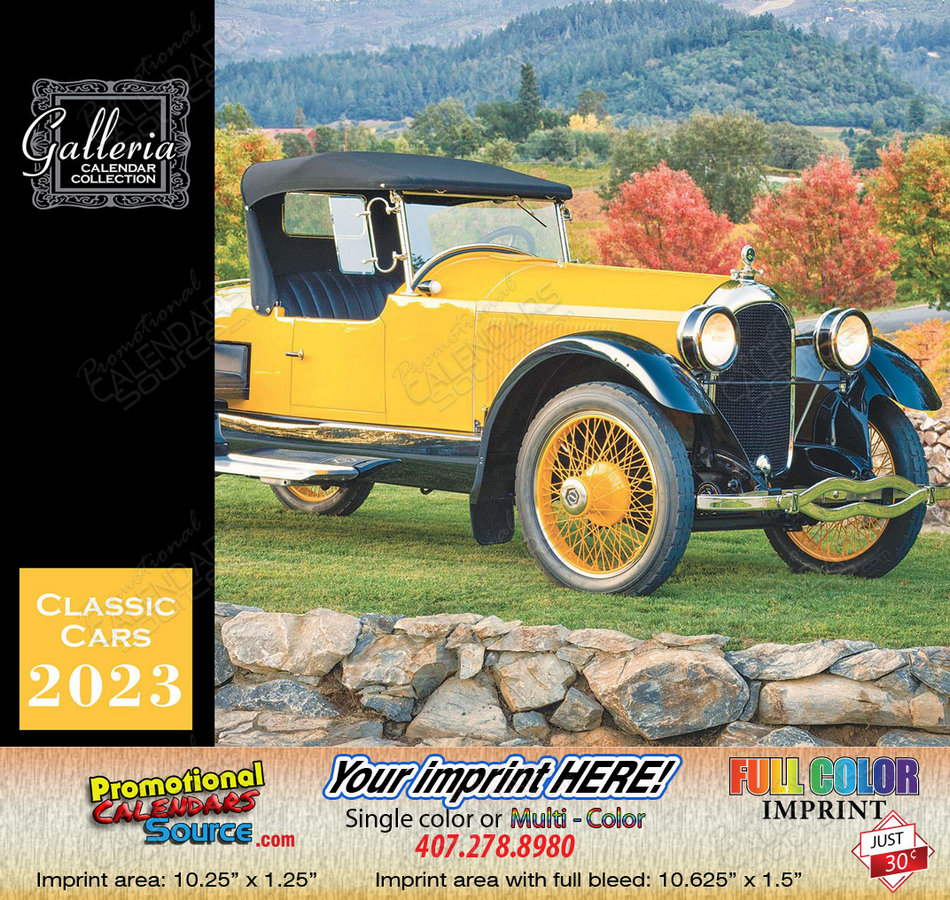 Classic Cars Value Calendar Stapled