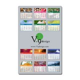 Laminated Card Calendar - 5.25 x 8.5 Repositionable Adhesive Backing