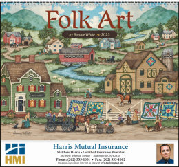 Folk Art Promotional Calendar