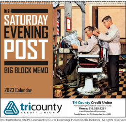 The Saturday Evening Post Big Memo Blocks Calendar