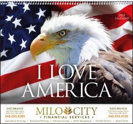 I Love America Promotional Calendar