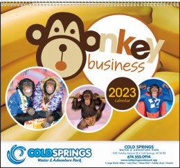 Monkey Business Promotional Calendar
