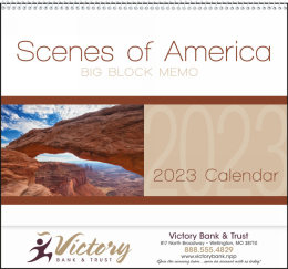 Scenes of America Big Block Memo Promotional Calendar