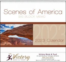 Scenes of America Big Block Memo Promotional Calendar