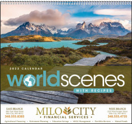 World Scenes with Recipe Promotional Calendar