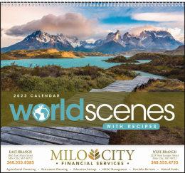 World Scenes with Recipe Promotional Calendar
