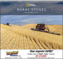 National Geographic Rural Scenes Wall Calendar With Spiral Binding
