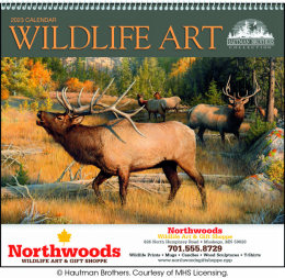 Wildlife Art by the Hautman Brothers Promotional Calendar