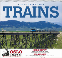 Trains Promotional Calendar