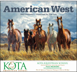 American West by Tim Cox Spiral Calendar