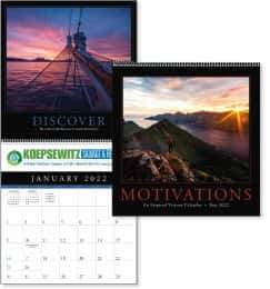 Motivations Promotional Calendar , UV Coated Calendar, Size 12x25