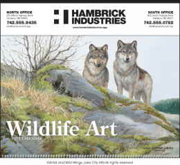 Wildlife Art Promotional Calendar