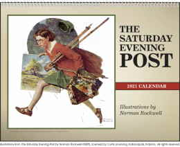 The Saturday Evening Post Illustrations Calendar