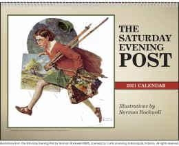 The Saturday Evening Post Illustrations Calendar