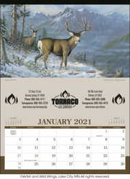 Wildlife Art Executive Wall Calendar