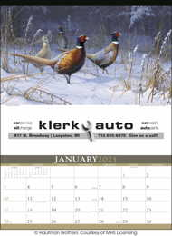 Wildlife Art by the Hautman Brothers Executive Large Calendar