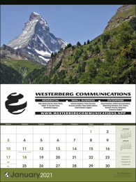 World Scenic Large Promotional Wall Calendar