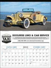 2 Month View Calendar Antique Cars
