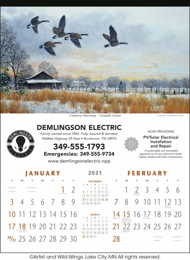 North American Waterfowl 2 Month View Calendar