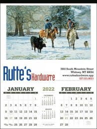 American West Art  Large Calendar