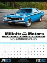 Muscle Cars 2 Month View Executive Cars Calendar
