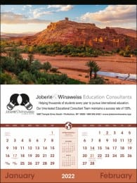 World Scenic 2 Month View Large Calendar