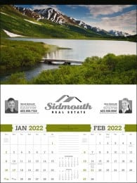 American Splendor 2 Month View Large Scenic Calendar