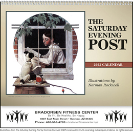 The Saturday Evening Post Deluxe Pocket Wall Calendar, Size 12x21