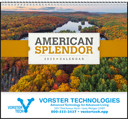 American Splendor Pocket Promotional Wall Calendar, Size 8x13
