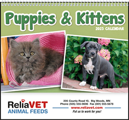 Puppies & Kittens Pocket Promotional Calendar