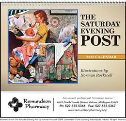 Pocket Wall Calendar The Saturday Evening Post, Size 8x13
