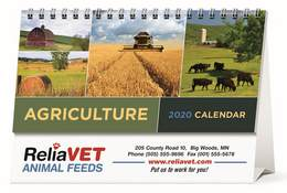 Agriculture Desk Tent Calendar With Full Color Print Option