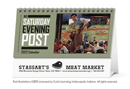 The Saturday Evening Post Promotional Desk Calendar