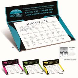Curved Bright Colors Memo Desk Easel Calendar