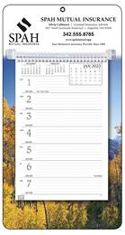 Weekly Promotional Memo Calendar, Autumn Scenic Theme