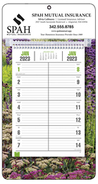Promotional Bi-Weekly Memo Calendar with Full Color Garden Picture Background