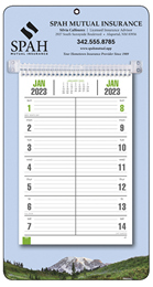 Promotional Bi-Weekly Memo Calendar  - Mountains