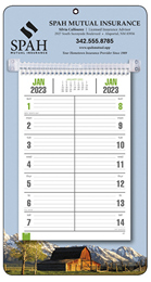 Promotional Bi-Weekly Memo Calendar  - Rural