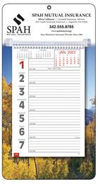 Big Numbers Promotional Weekly Memo Calendar  - Autumn