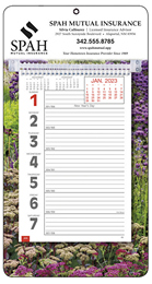 Big Numbers Promotional Weekly Memo Calendar  - Garden