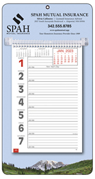 Large Numbers Promotional Weekly Memo Calendar  - Mountains