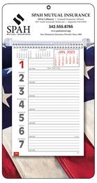 Weekly Memo Calendar w Big Numbers   - Patriotic
