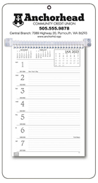 Promotional Weekly Memo Calendar  - White