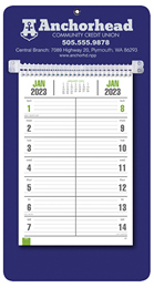 Bi-Weekly Promotional Memo Calendar - Blue