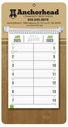 Bi-Weekly Promotional Memo Calendar - Butcher Block