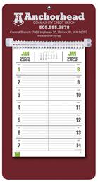 Bi-Weekly Promotional Memo Calendar - Maroon