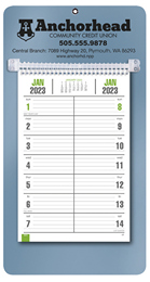 Bi-Weekly Promotional Memo Calendar - Metallic Blue